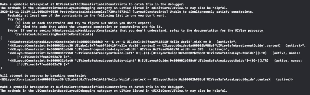 constraint errors