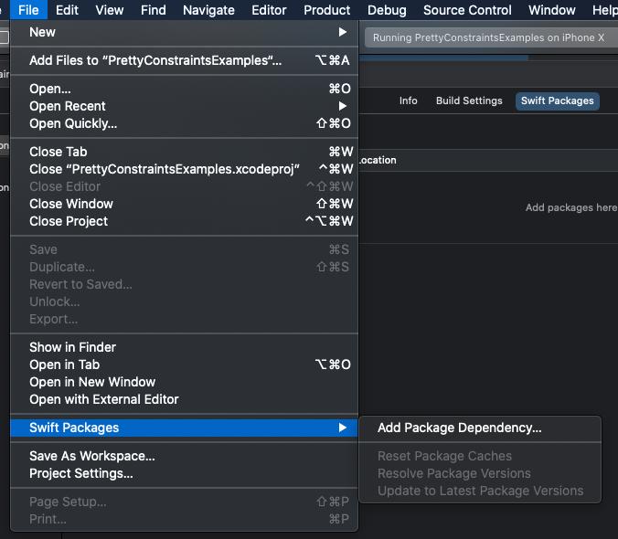 add package dependency